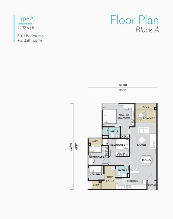 Fortune perdana My floor plan